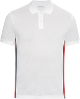 Moncler Side-stripe cotton-piqué polo shirt