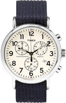Timex - Weekender Stainless Steel And Webbing Chronograph Watch