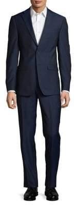 Calvin Klein Two-Piece Neat Slim-Fit Suit Set