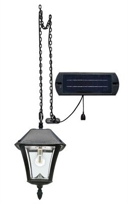 Seyler Ii Bulb Solar Hanging Light - Black - Resin Fleur De Lis Living