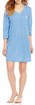 Karen Neuburger Dotted Henley Sleepshirt