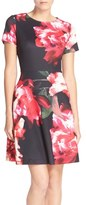 Donna Ricco Floral Scuba Fit & Flare Dress