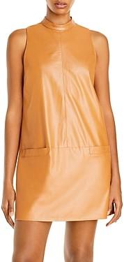 Aqua Faux Leather Mini Dress - 100% Exclusive