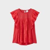 Women's Flutter Short Sleeve Blouse – Knox Rose™ Red