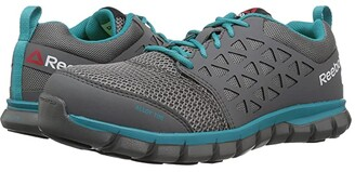 Reebok Work Sublite Cushion Work Alloy Toe SD (Grey/Turquoise) Women's Work Boots