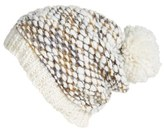 Steve Madden Nubby Knit Pom Beanie