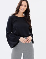Forcast Anne Bell Sleeve Blouse