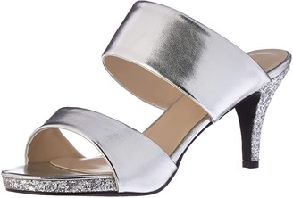 Annie Shoes Women's Boyton W Dress Sandal Silver 6 W US