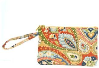 Friends That Rhyme Flourish - Handmade Vintage Silk Wristlet