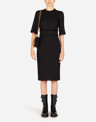 Dolce & Gabbana Tweed Midi Sheath Dress