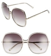 Chloé Women's 62Mm Oversized Gradient Lens Square Sunglasses - Brown