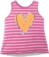 Design History Heart Sequins Tank Top (Toddler/Kid) - Mod Pink-3T