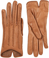 Barneys New York Women's Whipstitched Leather Gloves-BROWN