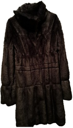 Armani Jeans Grey Faux fur Coat for Women