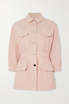 Prada Gathered Denim Jacket - Pink