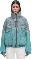Stella McCartney RETRO GRADIENT DENIM WINDBREAKER JACKET