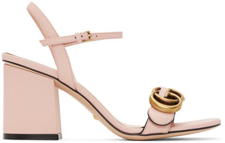 Gucci Pink GG Marmont Heeled Sandals