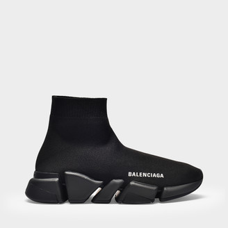 Balenciaga Speed.2 Lt Sneaker In Black Knit