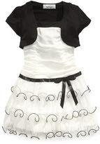 Amy Byer Girls Dress, Little Girls Triple-Tiered Mesh Shrug Dress