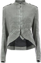 Haider Ackermann curved hem jacket