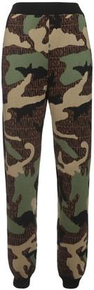 Moschino Virgin Wool Intarsia Knit Track Pants