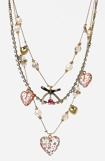 Betsey Johnson Multistrand Necklace