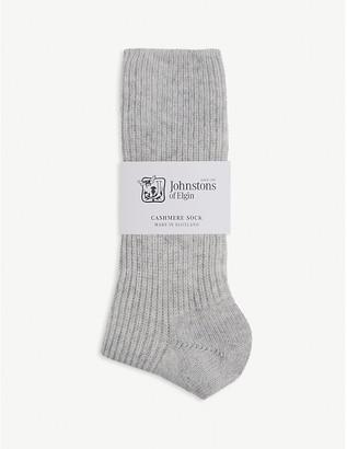Johnstons Ribbed cashmere socks