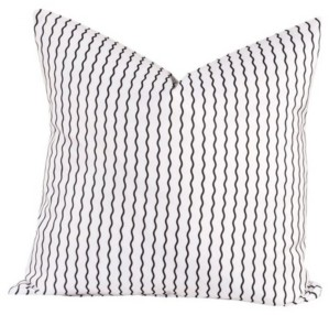 "Crayola Serpentine Stripe Licorice 16"" Designer Throw Pillow"