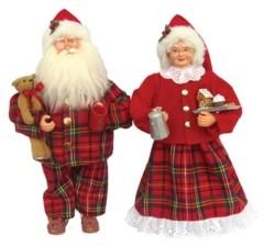 "Santa's Workshop 15.5"" Pajama Mr. and Mrs. Claus Set"