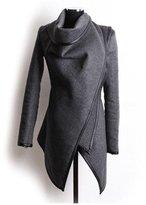 Cibeat Women's Warm Wool Slim Long Trench Parka Peacoat Outwear Overcoat Coat Jacket Color: Size (Women's):L