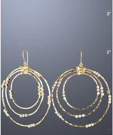 gold hammered '3 by 3 Allure' hoop earrings