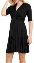 Maternal America Women's Maternity Tie Front Dress
