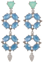 Jenny Packham Prong Set Faceted Crystal Linear Drop Earrings