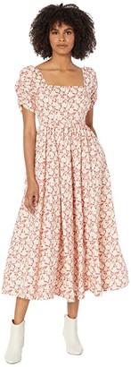 Free People She's a Dream Midi Dress (Red Combo) Women's Dress