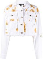 Versace baroque-print denim jacket