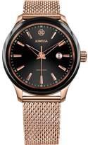 Jowissa Men's Tiro 45mm Rose Gold-Tone Steel Bracelet Quartz Watch J4.221.l