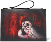 Just Cavalli Printed faux leather clutch