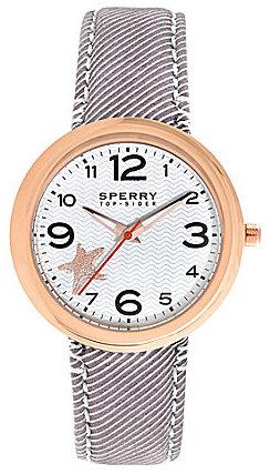 Sperry Women's Sandbar Brown Seersucker Watch