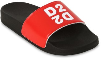 DSQUARED2 Logo Printed Slide Sandals