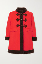 Thumbnail for your product : Gucci Faux Shearling-trimmed Wool Coat
