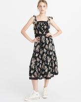 Abercrombie & Fitch Tie-Shoulder Midi Dress