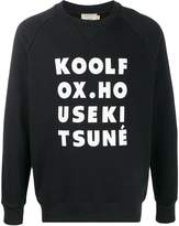 MAISON KITSUNÉ Kool Fox print jersey sweatshirt