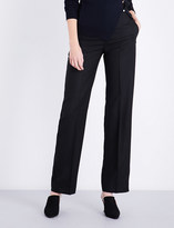 Jacquemus Ladies Black Textured Concealed zip La Pantalon Straight Wool Pants