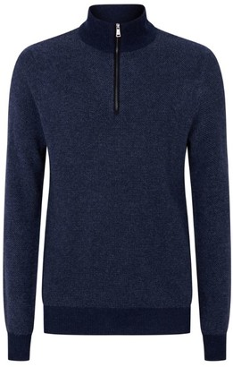 Ralph Lauren Purple Label Cashmere Zip-Up Knit Sweater