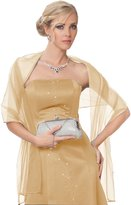 SEXYHER Net beautiful shawl with beaded detail in 12 colors (light yellow)