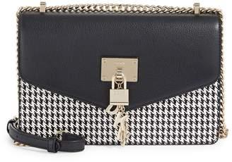 DKNY Houndstooth Leather Crossbody Bag