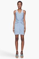 SEE BY CHLOE Pale blue denim Waist-Gathered Dress