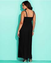 INC International Concepts Plus Size Dress, Sleeveless Rosette Maxi