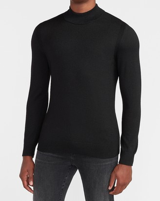 Express Merino Wool-Blend Mock Neck Sweater