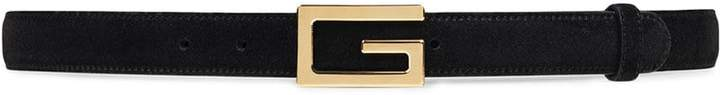 Gucci Suede belt with G buckle